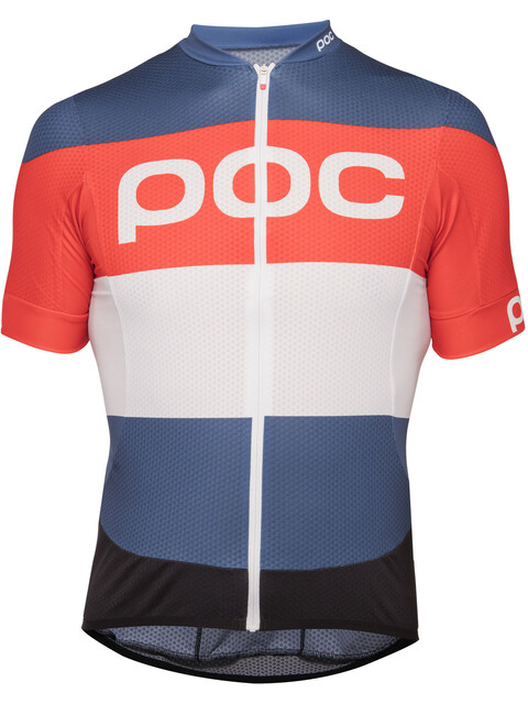 POC Essential Road Logo Jersey Men prismane multi red